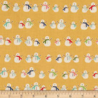 Riley Blake Cozy Christmas Snowmen Yellow