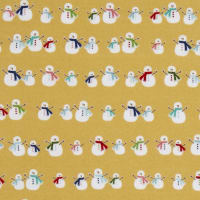 Riley Blake Cozy Christmas Flannel Snowmen  Yellow