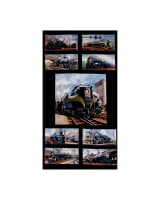 All Aboard Trains 24 In. Panel Black