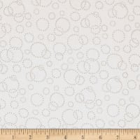 "Westrade 110"" Wide Quilt Back Champagne White Grey"