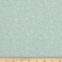 "110"" Wide Quilt Back Champagne Aqua Gold"
