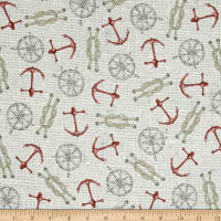 Seaside Anchors & Ropes Pale Beige