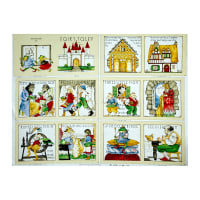 """Classic Storybooks Fairy Tales Book 36"""" Panel Multi"""