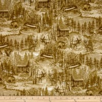 Into The Woods Scenic Toile Olive