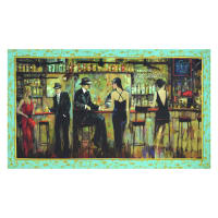 "QT Fabrics Artworks Digital Bar Scene 24"" Panel Multi"