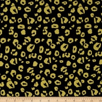 Crepe De Chine Animal Black Yellow