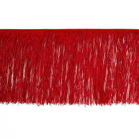 "12"" Chainette Fringe Trim Red"