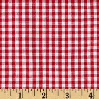 "Wide Width 1/8"" Gingham Check Red/White"
