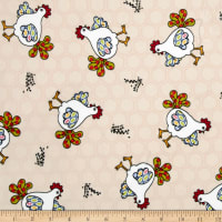 E.Z. Fabric Minky Red Rooster Red