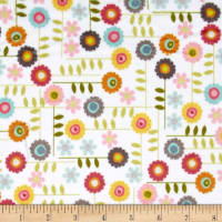 E.Z. Fabric Minky Garden Flowers Multi