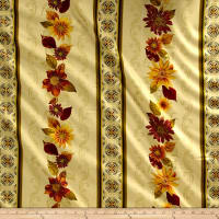 Kanvas Autumn Splendor Metallic Autumn Garland Cream