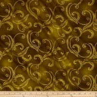 Kanvas Autumn Splendor Metallic Gold Garland Olive