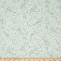 Bluebird Gathering Scroll Tonal Light Green