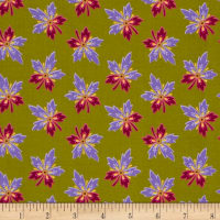 Medallion Muse Flowers Olive/Purple