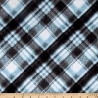Kanvas Into the Woods Flannel Soft Plaid Blue Mist
