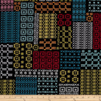Kanvas Sew Sew Cross Stitch Geo Black/Multi