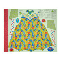 """Penny Rose Chatterbox Aprons 36"""" Panel Green"""