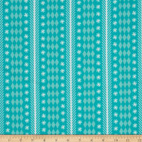 Riley Blake Nutcracker Christmas Stripe Aqua