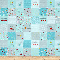 Riley Blake Sweet Orchard Designer Cloth Aqua