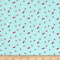 Riley Blake Sweet Orchard Floral Aqua