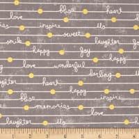 Gigi Blooms Happy Notes Gray Metallic