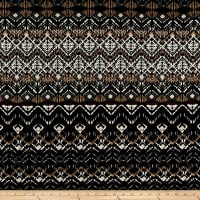 Abstract Zig Zag Jersey Knit Print Black/Latte
