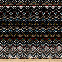 Abstract Zig Zag Jersey Knit Print Black/Garnet