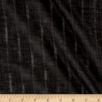 Cotton Gauze Stripe Black