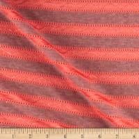 Novelty Knit Stripe Coral