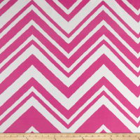Polyester Dress Crepe Dress Woven Zig Zag Paris Pink White