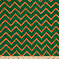 Slinky Knit Green/Orange