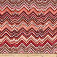 Slinky Knit Chevron Dash Coral