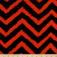 Ponte de Roma Knit Jagged Zig Zag Rust/Black