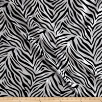Flocked Zebra Taffetta White/Black