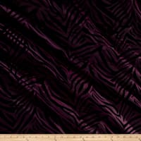 Flocked Zebra Taffetta Plum