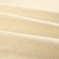 "110"" Faux Linen Sheer Metallic Ivory/Gold"