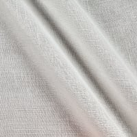 "110"" Faux Linen Sheer Metallic White/Silver"