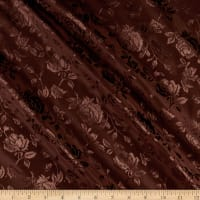 Rose Satin Jacquard Brown