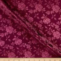 Rose Satin Jaquard Burgundy