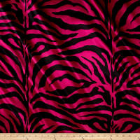 Satin Zebra Fuschia Black