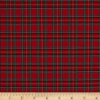 Pima Tartan Plaid Shirting Red