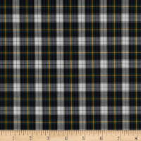 Pima Tartan Plaid Shirting Green/White/Yellow