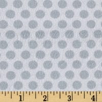 E.Z. Fabric Minky 2 Tone Dot Grey