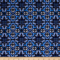 Urban Chic Geo Tribal Stretch ITY Knit Blue/Lilac/White