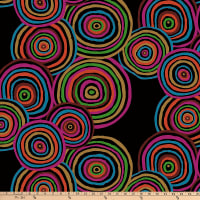 Kaffe Fassett For Freespirit 108' Quilt Back Circles, Black