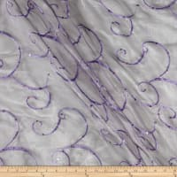 Ferial Organza Embroidery Light Plum