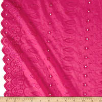 Fancy Allover Eyelet Fuchsia