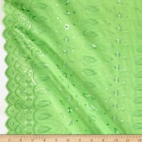 Fancy Allover Eyelet Lime