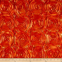Wedding Rosette Satin Orange