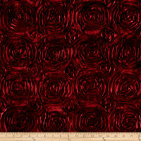 Wedding Rosette Satin Burgundy